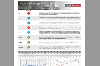 Morning Report - Energi Danmark Group