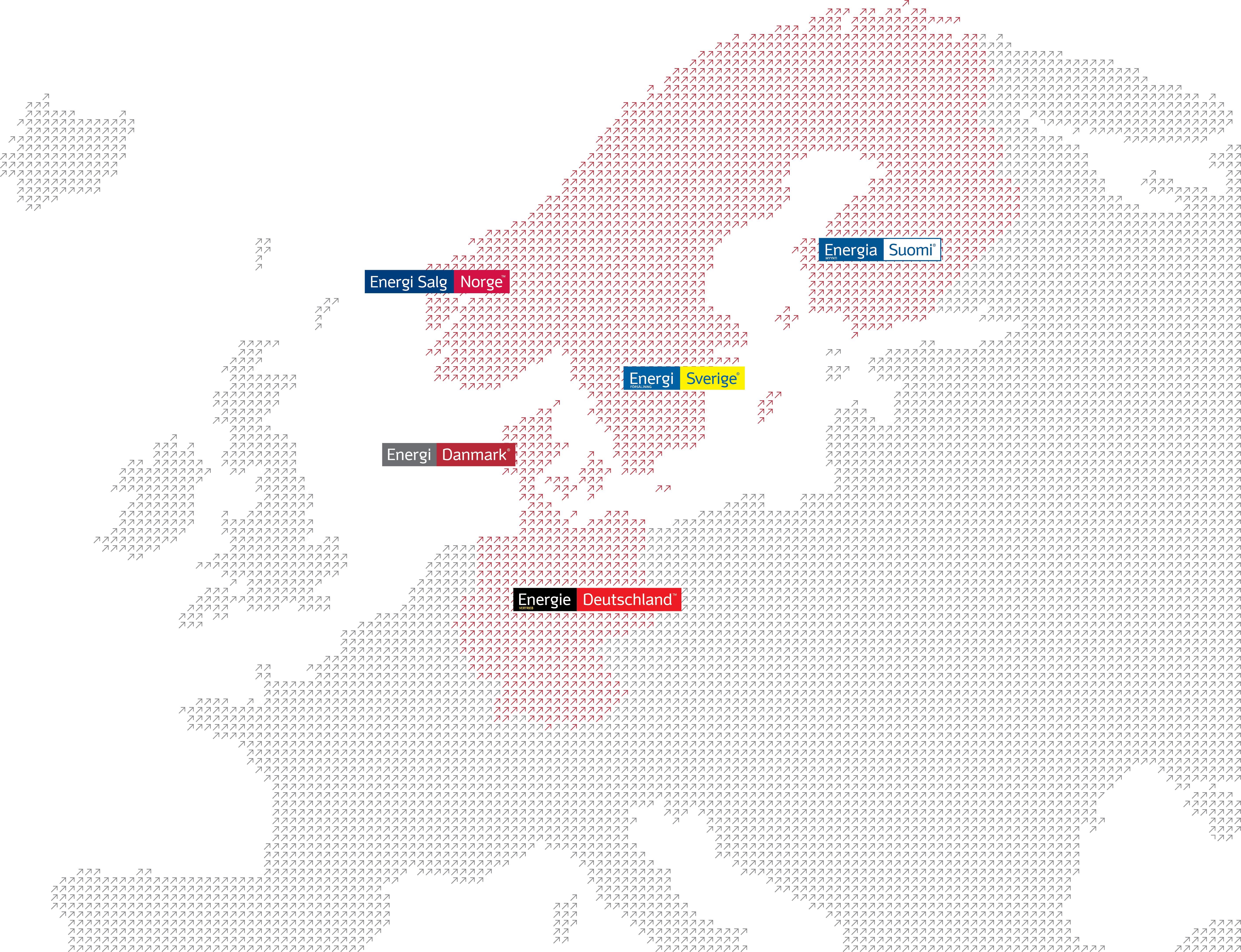 Map with logos - Energi Danmark Group